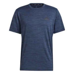 T-Shirt Fitness blau meliert