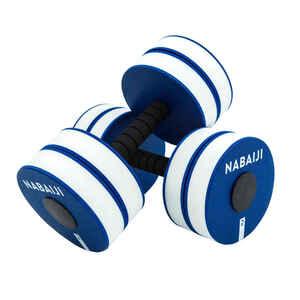 Aquafitness-Hanteln Schaumstoff Aquafitness Aquagym weiss/blau