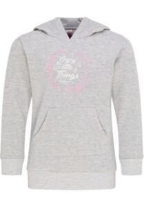 Hoodie Sweatshirts  grau-kombi Gr. 140 Mädchen Kinder