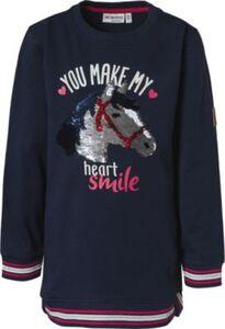 Sweatshirt , Pferde dunkelblau Gr. 104/110 Mädchen Kleinkinder