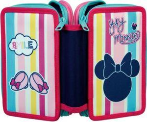Triple-Federmäppchen Minnie Mouse, 30-tlg. rosa/blau