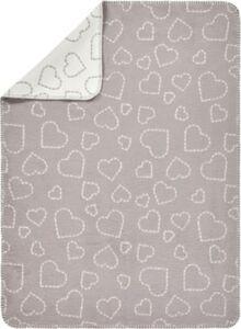 Baumwolldecke Hearts grey