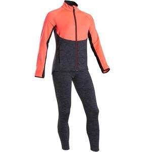 Trainingsanzug S500 Gym Kinder warm atmungsaktiv rosa/grau