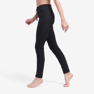 Jogginghose Fitness mit engem Beinabschluss Slim schwarz