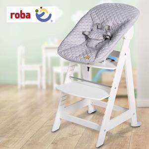 Treppenhochstuhl Born Up • inkl. Aufsatz für Neugeborenes • wächst ab Geburt mit • 5-Punkt- Gurtsystem mit Schutzbügel • Fußbrett höhenverstellbar