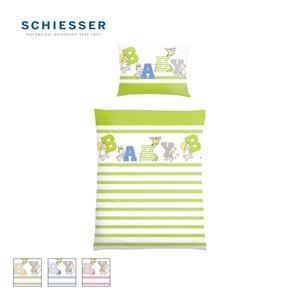 Kinder-Renforcé-Bettwäsche 100 % Baumwolle, mit Reißverschluss, 100 x 135/40 x 60 cm