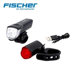 LED-Beleuchtungsset • 30-Lux-Frontleuchte • das Twin-Rücklicht projiziert einen 360°-Lichtkreis auf den Boden • inkl. USB-Anschluss
