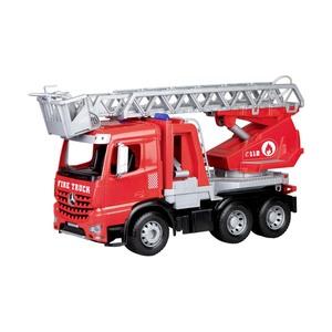 Feuerwehr Leiterfahrzeug Arocs 5-mm-Stahlachsen, spritzt bis ca. 3 m, ab 3 Jahren