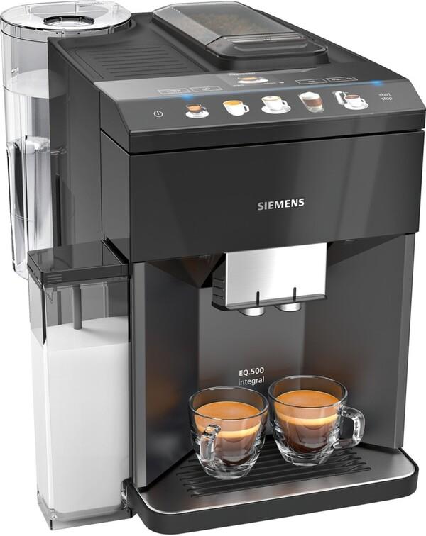 SIEMENS Kaffeevollautomat EQ.500 integral TQ505D09 saphirschwarz metallic (EQ.5)