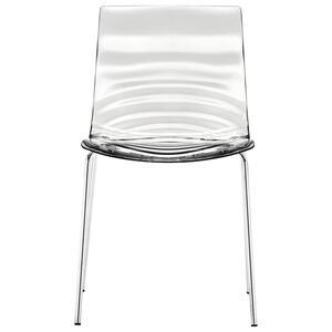 Livetastic Stuhl transparent  L'eau _ Metall  47.5x80x55 cm