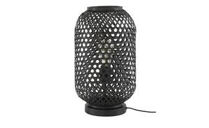 Tischleuchte, 1-flammig, Bambus schwarz