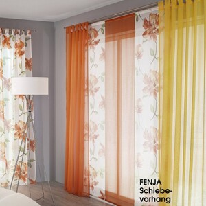 Fenja Flächenvorhang  Flächenvorhang, Orange