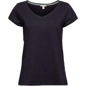 Esprit T-Shirt, Flammgarn, Rollsaumkanten, für Damen