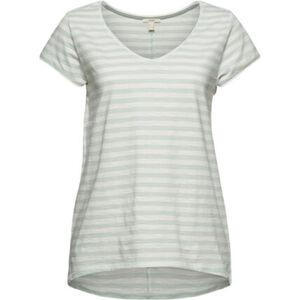 Esprit T-Shirt, Ringel, Flammgarn, Rollsaumkanten, für Damen