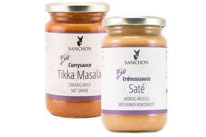 Asiatische oder Tomaten-Sauce, verschiedene Sorten