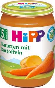 HiPP Bio Menü Früh-Karotten mit Kartoffeln 0.42 EUR/ 100 g 6 x 190.00g