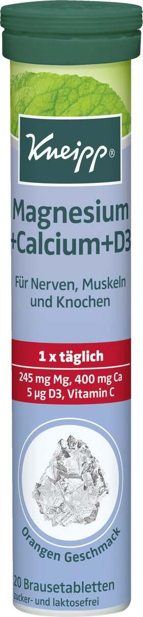 Bild 1 von Kneipp Brausetabletten Magnesium + Calcium +D3