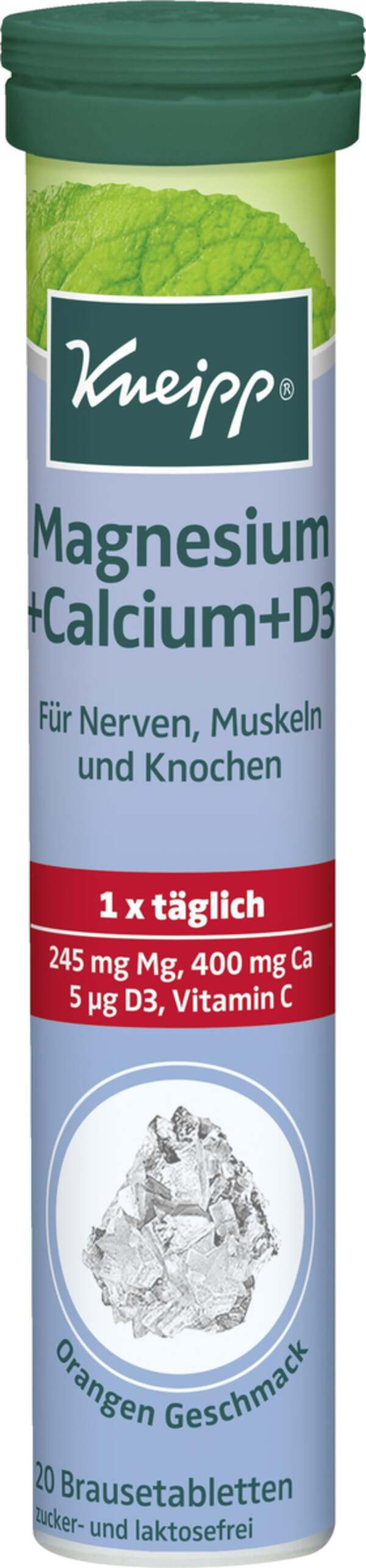 Kneipp Brausetabletten Magnesium + Calcium +D3