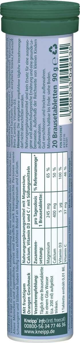 Bild 2 von Kneipp Brausetabletten Magnesium + Calcium +D3
