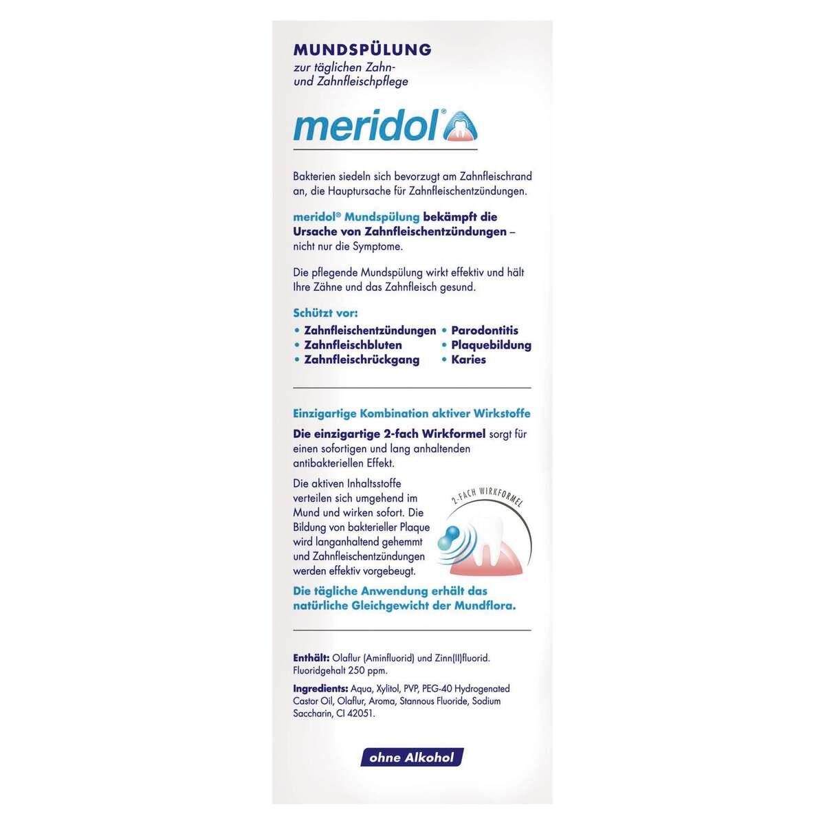 Bild 2 von Meridol Mundspülung 9.98 EUR/ 1 l