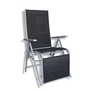 Liegestuhl - schwarz - Rattan-Optik - verstellbar
