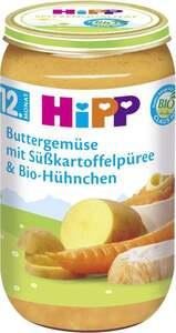 HiPP              Bio Menü Buttergemüse mit Süßkartoffelpüree & Bio-Hühnchen