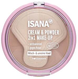 ISANA Young              2in1 Cream & Powder Make-up dunkel