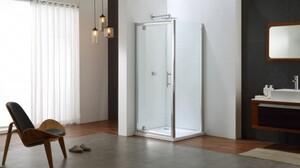 TrendLine Pivot-Tür Easy 6 mit Seitenwand, 80x80 cm