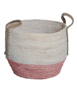 Dehner Seegraskorb, rot/weiß