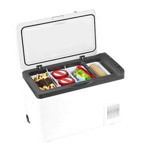 Kompressor-Kühlbox von Norauto, rollbar, 12/ 24 V Anschluss, 30 l Volumen, weiß, 1 Stück