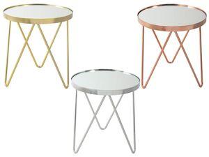 KAYOOM Beistelltisch »Bonnie 110«, Spiegelglas-Tischplatte, Metallgestell in Dreiecksform