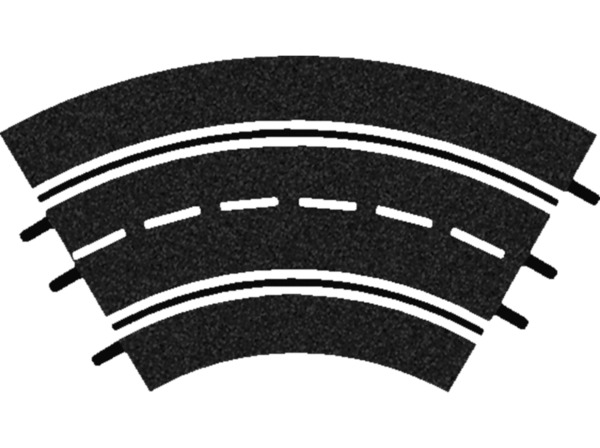 CARRERA (TOYS) Kurven 1/60° (3) Carrera Zubehör