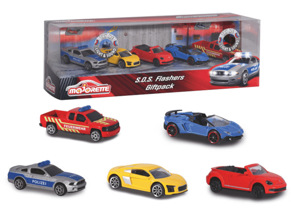 DICKIE TOYS S.O.S Flashers 5 Pieces Giftpack Spielzeugauto