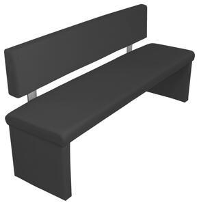 Sitzbank in Schwarz ca. 160x83x54 cm 'Charisse'