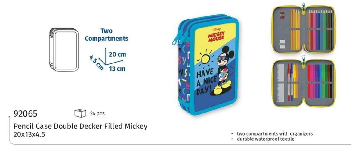 "Bild 3 von Spree Schüleretui Doppeldecker Disney ""Mickey Mouse"""