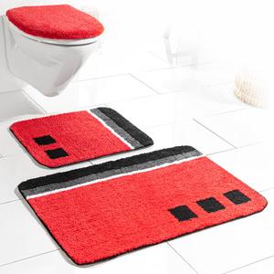 Sensino Badezimmer-Garnitur für Hänge-WC, 3-tlg. - Rot Olivera