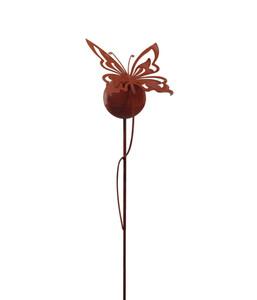 Dehner Metall-Kugel Schmetterling, rost
