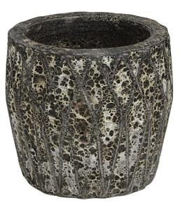 Dehner Keramik-Topf Nero Earth, antik-braun