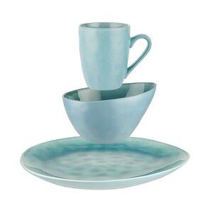 Geschirr-Set zum Frühstück 12-tlg. blau