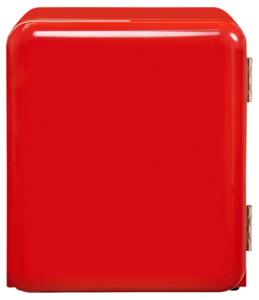 Exquisit Mini Retro Kühlschrank RKB 04-14, rot