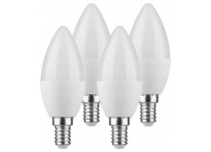 LED-Kerzenlampe 4er-Pack E14 5,5 Watt