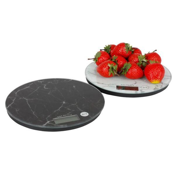 Digitale Küchenwaage im Marmor-Design