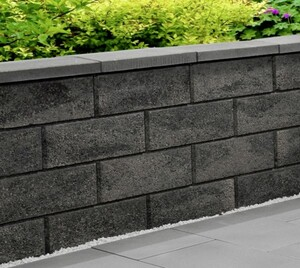 Primaster Gartenmauer Normalstein grau-anthrazit, 50 x 25 x 20 cm