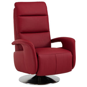Beldomo Premium RELAXSESSEL Echtleder  , MY WAY L  -Exklusiv- , Rot , Leder , Uni , 84x88x110 cm , pigmentiert , Fußauswahl, Lederauswahl, Relaxfunktion , 002507016902