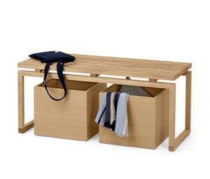 Sitzbank mit 2 Rollkästen