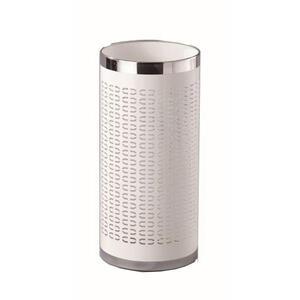 Xora Schirmständer metall weiß, edelstahlfarben  , Girotti-W , 50 cm , pulverbeschichtet , 000640013302