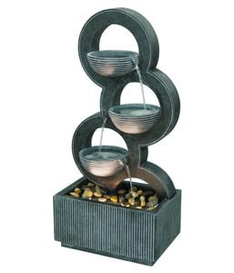 Dehner Polyresin-Gartenbrunnen Ring, ca. B44/H91/T27 cm