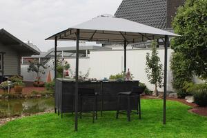 LECO - Pavillon mit Theke inkl. 2 Hocker