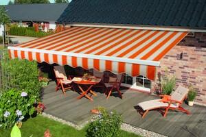 """Spettmann Offene Markise """"BASIS"""", ca. 400 x 300 cm, Weiß/Orange"""