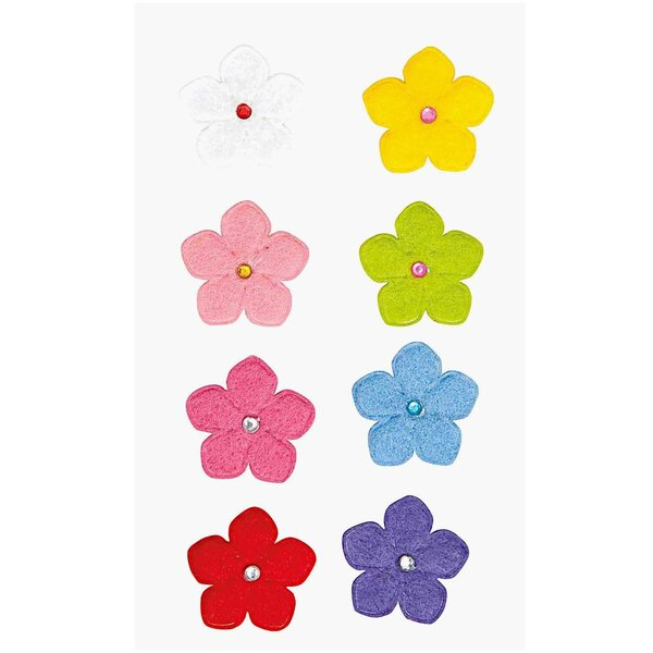 Paper Poetry Filzsticker Blumen 2 mehrfarbig